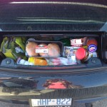 My trunk full of delicious and economical food!